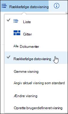 Gemt brugerdefineret dokumentbibliotek i Office 365