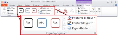 Fanen Formatér under SmartArt-værktøjer.