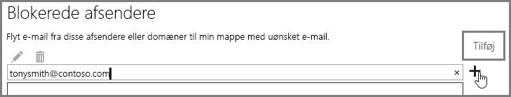 Blokering af en afsender i Outlook Web App