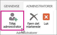 Tilføj administrator