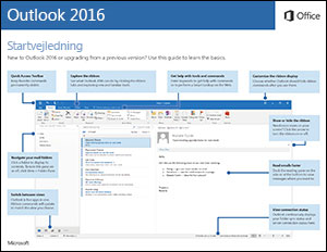 Startvejledning til Outlook 2016 (Windows)