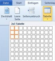 Tabelle einfügen