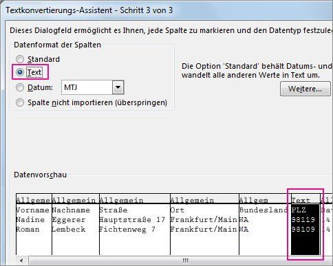Schritt3 im Textkonvertierungs-Assistenten