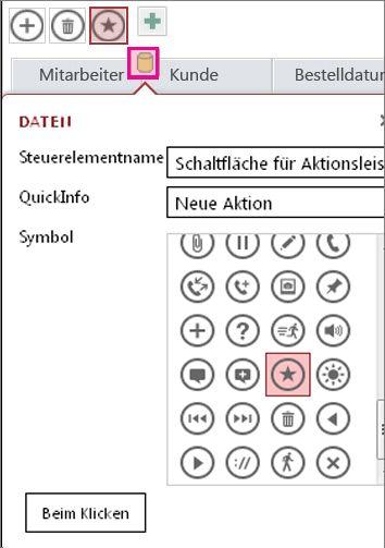 Hinzufügen benutzerdefinierter Steuerelemente in einer Access-App