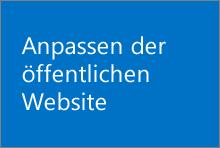Sie erfahren, wie Sie das Aussehen Ihrer öffentlichen Website ändern, einen Titel und ein Logo hinzufügen und weitere Anpassungen vornehmen können