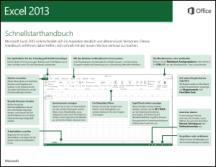 Excel 2013 - Schnellstarthandbuch