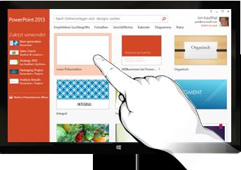 PowerPoint auf Touch-Geräten