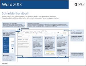 Word 2013 – Schnellstarthandbuch
