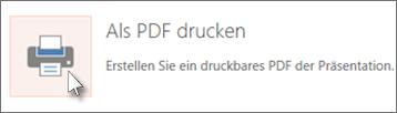 Folien als PDF drucken