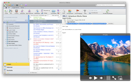 Outlook mit Quick Look-Funktion