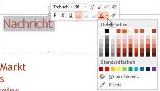 Ändern der Textfarbe