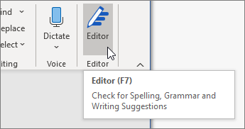 """Wählen Sie den Editor auf der Registerkarte """"Start"""" aus, oder drücken Sie F7, um den Editor-Bereich zu öffnen."""