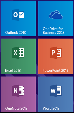 OneDrive for Business 2013-Programmkachel in Windows 8