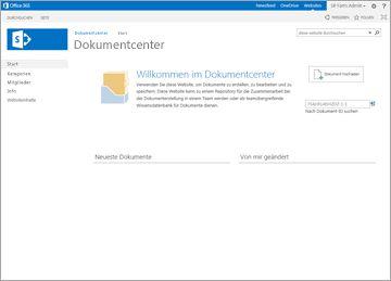Websitevorlage für Dokumentcenter