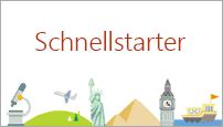 Mit der Schnellstarter-Vorlage in PowerPoint 2016 wird eine Gliederung zu einem von Ihnen ausgewählten Thema erstellt.