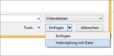 Abbildung des Dialogfelds 'Video einfügen' in PowerPoint