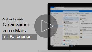 Miniaturansicht des e-Mail-Anordnens mit Kategorien (Video)