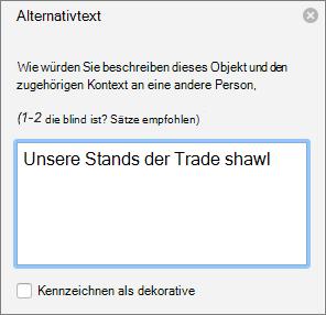"""Der Bereich """"Alternativtext"""" in Word"""