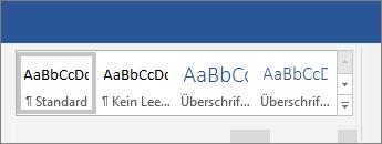 """Optionen für """"Formatvorlagen übernehmen"""" im Word-Menüband"""