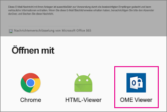 OME Viewer mit Android E-Mail-App 2