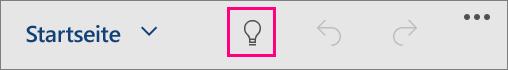 """Zeigt das Symbol """"Sie wünschen"""" in Office für Windows 10 Mobile."""