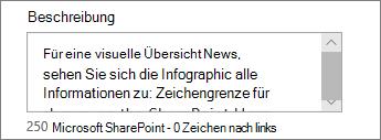 """Das Feld """"Beschreibung"""""""