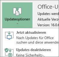 """""""Jetzt aktualisieren"""" in der Dropdownliste """"Updateoptionen"""" auswählen"""