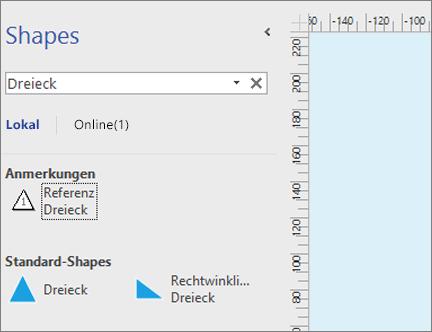Suchen nach weiteren Shapes und Schablonen - Office-Support