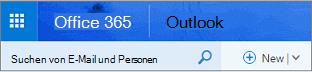 Dies ist wie Outlook im Web aussieht