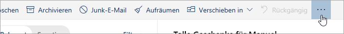 """Screenshot der Schaltfläche """"Weitere Befehle"""""""