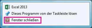 Option 'Alle Fenster schließen'