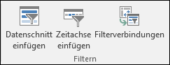 """Option """"Datenschnitt einfügen"""" über """"PivotTable-Tools"""" > """"Analysieren"""" > """"Filter"""""""