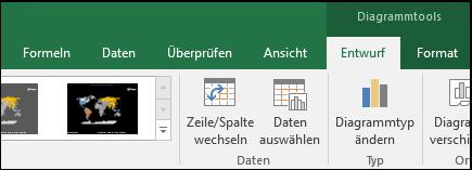 Excel-Kartendiagramm, Menübandtools