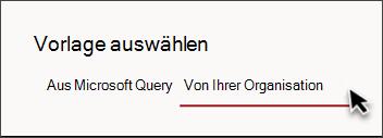 """Abbildung der Registerkarte in der Websitevorlagenauswahl mit der Auf der Seite """"Von Ihrer Organisation"""""""