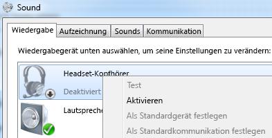 Screenshot von 'Gerät aktivieren'