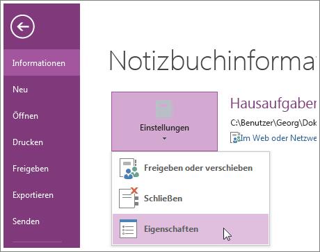 """Sie können direkt vom Menü """"Datei"""" aus ein Upgrade auf die neueste Version von OneNote vornehmen."""
