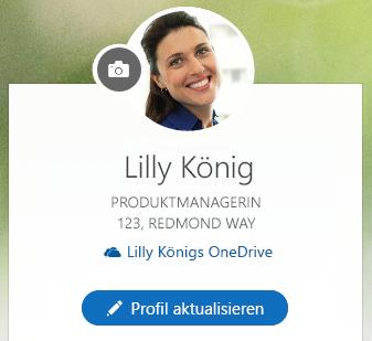 """Klicken Sie auf """"Profil aktualisieren"""", um Ihre Informationen zu ändern."""