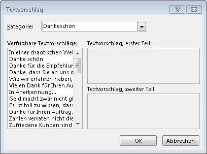 Textvorschläge für Grußkarten in Publisher2013
