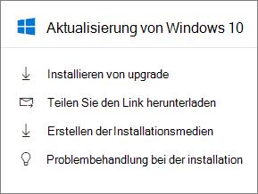 Aktualisierung von Windows 10 Karte in der Verwaltungskonsole.