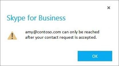 Benachrichtigung zur Annahme einer Skype-Kontaktanfrage