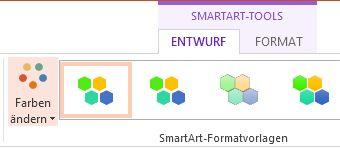 Schaltfläche 'Farben ändern' in der Gruppe 'SmartArt-Formatvorlagen'