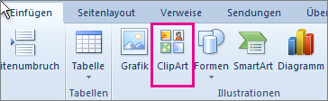 Office 2010 – ClipArt-Objekte einfügen