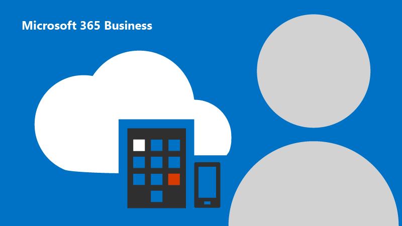 Zeigt ein Bild einer Cartoon-Person mit einer Cloud und Geräten im Hintergrund.