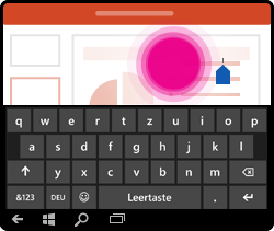 PowerPoint für Windows Mobile – Cursor per Touch positionieren