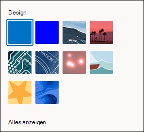 Designauswahl