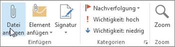Datei an Nachricht anfügen
