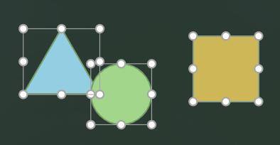 Formen, die sich überlappen