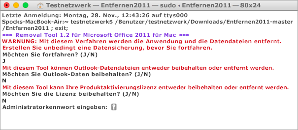 Führen Sie das Remove2011-Tool aus, indem Sie zum Öffnen CTRL drücken und klicken.