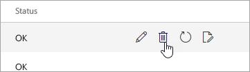 """Screenshot der Schaltfläche """"Löschen"""" auf der Seite """"Mobile Geräte"""""""
