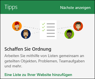 SharePoint Online-Websitenutzung Tipps